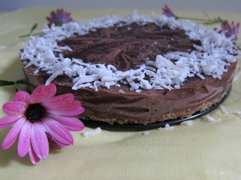 raw vegan chocolate coconut mousse cake recipe