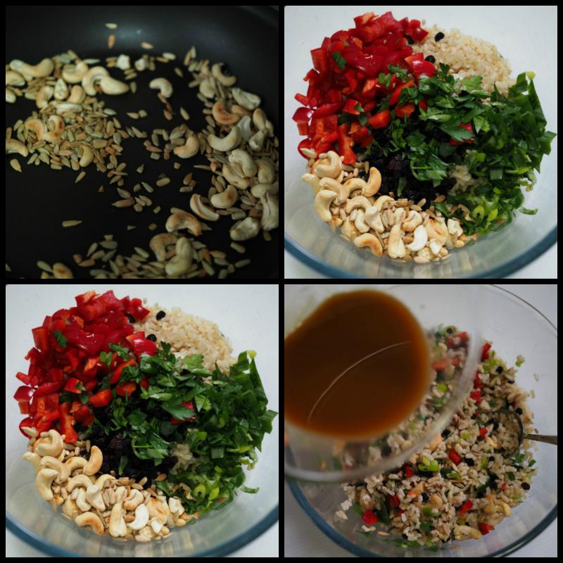 brown, rice, salad, recipe, vegetarian
