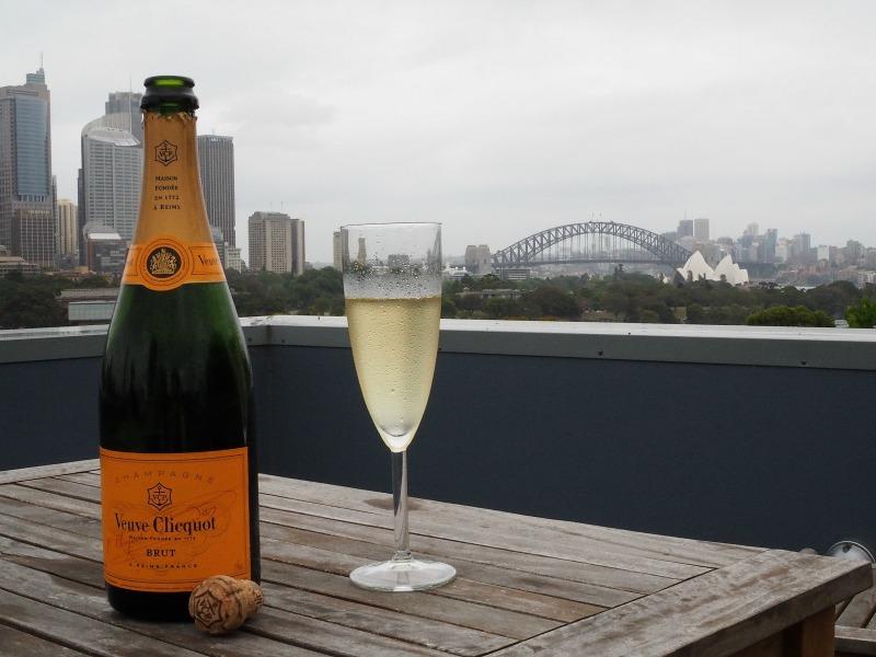 rooftop, sydney, champagne, sydney harbour bridge, wine storage in summer