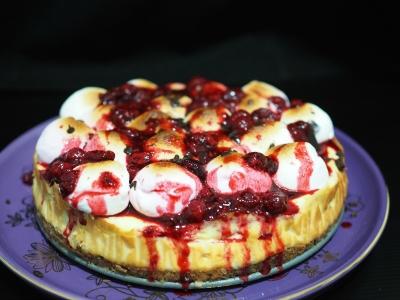 cheesecake tips, molten cheesecake, baked cheesecake, jamie oliver, dessert, comfort food, marshmallow, raspberry