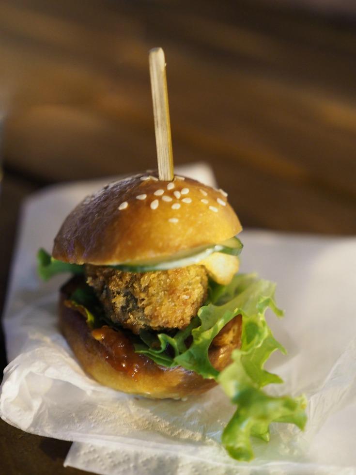 Arbory Bar and Eatery, Arbory, Yarra River, melbourne, melbourne CBD, wine bar, bar, view, cafe, restaurant, breakfast, dinner, late night, lunch, melbourne food blog, wine, melbourne wine blog, mushroom and haloumi burger, mushroom, haloumi, vegetarian, burger