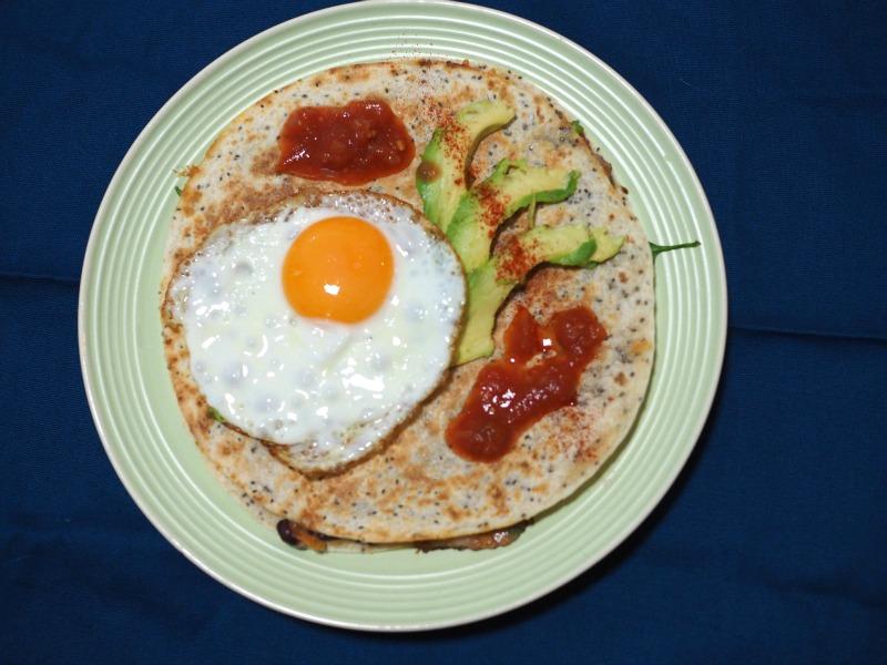 cheese, quesadilla, breakfast quesadilla, vegetarian, easy breakfast, chia quesadilla, recipe