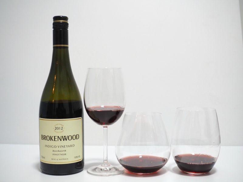 wine glass affect taste, shape, riddle, wine glass, your home depot, brokenwood, indigo, pinot noir, wine