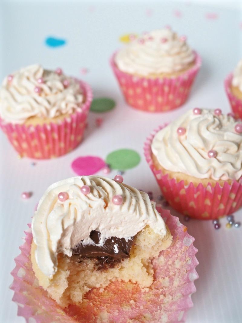 macabella, chocolate macadamia spread, cupcake, moscato cupcakes, recipe, moscato buttercream