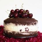 cherry cheesecake chocolate mud cake, cherry cheesecake, gelatin-free, cheesecake, must cake, christmas dessert, christmas