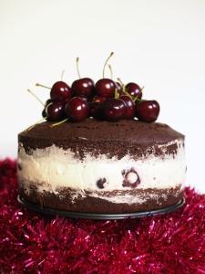 cherry cheesecake chocolate mud cake, cherry cheesecake, black forest cake, gelatin free, cheesecake, mud cake, christmas dessert, christmas, recipe, christmas recipes, mud cake recipe, recipe index