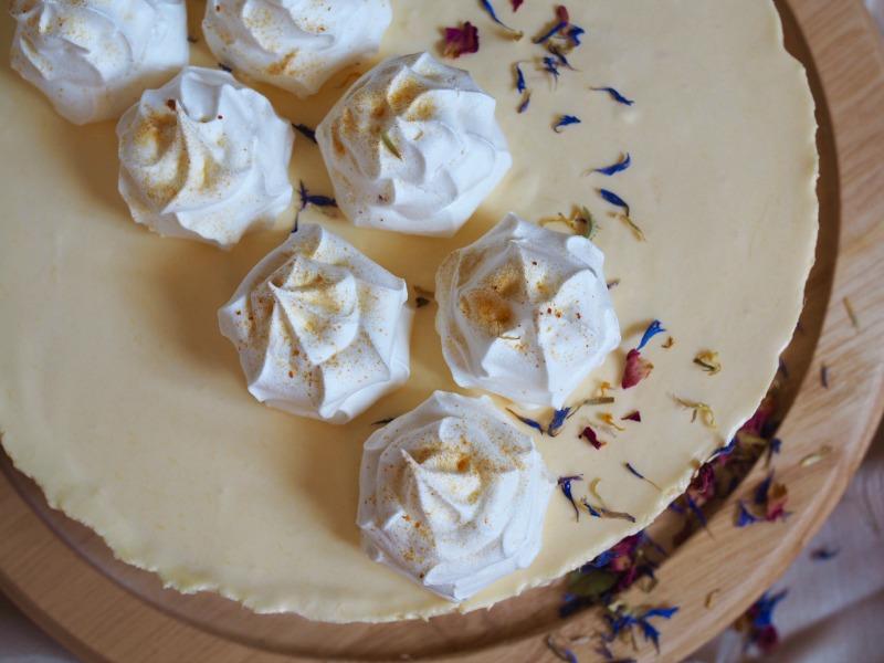 mango cheesecake, cheesecake recipe, passionfruit meringues